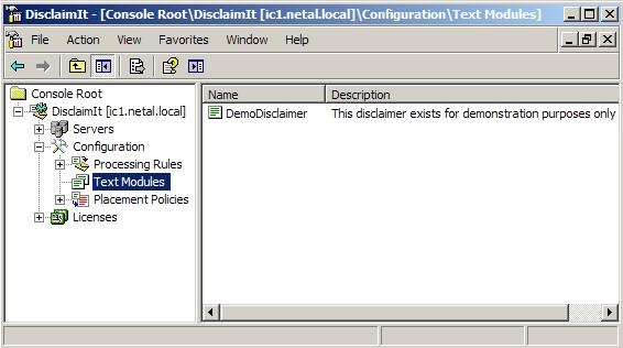 DisclaimIt manager